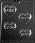 Love and XO Sandwich Cookie Chocolate Mold