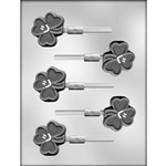 Shamrock Smile Sucker lollipop Chocolate Mold Irish St Patricks 90-14822