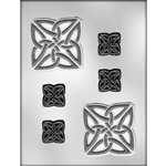 Square Celtic Knots Chocolate Mold