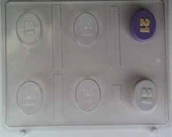 21 Oval Mint Chocolate Candy Mold