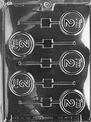 """I'm 2"" Lollipop Chocolate Mold"