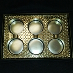 Sandwich Cookie Box with Gold Insert - 25 Pack