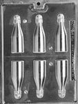 3D Small Champagne Bottles Chocolate Mold