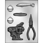 Fishing Tackle Assortment Chocolate Mold
