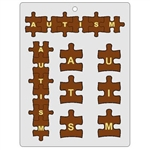 Autism Letters Puzzle Chocolate Mold