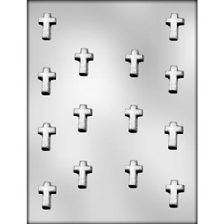 "1-1/8"" Cross Chocolate Mold"