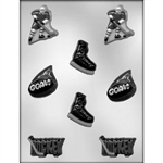 Hockey Assortment Chocolate Mold 90-6107 sports stanley cup skate puck
