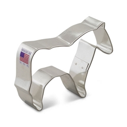 "3-7/8"" Horse Cookie Cutter"