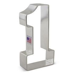 "4-3/8"" Large Number 1 Cookie Cutter"