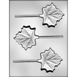 "3"" Maple Leaf Sucker Chocolate Mold"