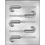 "2-1/2"" Candy Cane Sucker Chocolate Mold"