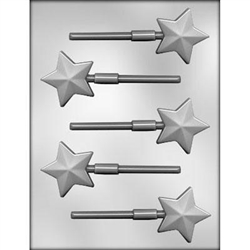 "2"" Faceted Star Sucker Chocolate Mold"