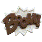 Boom! Superhero Lingo Chocolate Mold