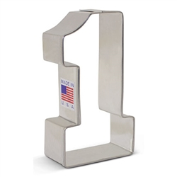 "3-1/4"" Number 1 Cookie Cutter"