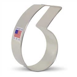 "3-1/4"" Number 6 or 9 Cookie Cutter"