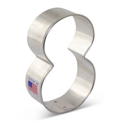 "3-1/4"" Number 8 Cookie Cutter"