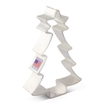 "4-1/2"" Christmas Tree with Star Cookie Cutter"