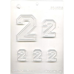 "Collegiate Number ""2"" Mold"