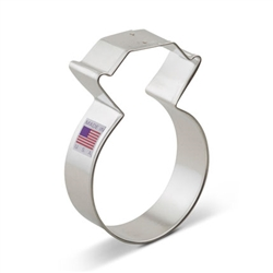 "3-3/4"" Diamond Ring Cookie Cutter"