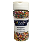 Nonpareils Rainbow Mixed Candy Topping 3.8 Ounces cookie cake ice cream