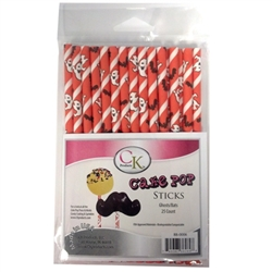 "Ghosts and Bats 6"" Cake Pop Sucker Stick - 25 Count Halloween Fall 88-0006"