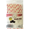 "Pink Hearts 6"" Cake Pop Sticks - 25 Count Valentines Wedding Anniversary sweetest day 88-0019"
