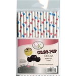 "Red and Blue Stars 6"" Cake Pop Stick sucker lollipop july 4th military 88-0026"