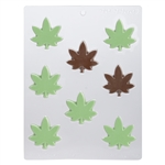 Marijuana Wide Leaf Chocolate Mold 90-99607 weed pot