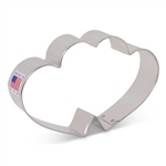 "Cookie Cutter 4-5/8"" Double Heart ​anniversary wedding valentine"