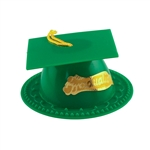 Green Graduation Cap Cake Topper hat tassel