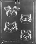 Woodland Animals Cookie Chocolate Mold A157 baby shower