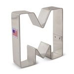 "Cookie Cutter Letter M - 3/1/4"" - 8025A"