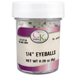 "1/4"" Royal Icing Eyeballs 78-A5102A"