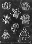 assortment with star chocolate candy mold christmas holiday winter