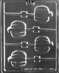 Fall Pumpkin Lolly Chocolate Mold T045 lollipop sucker Halloween Thanksgiving