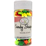 Neon Stars Candy Shapes - 3.2 Ounces