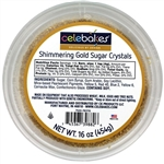 Shimmering Gold Sugar Crystals