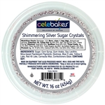Shimmering Silver Sugar Crystals cookie wedding