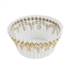 Mini White Gold Foil Baking Cups - 500 Count