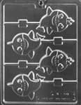 Baby Sharks Lolly Chocolate Mold K178 nautical animal lollipop sucker
