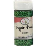Green Sugar Pearls 78-5222G edible topping