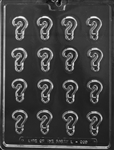 Bite Size Mini Question Mark Chocolate Mold  L069 gender reveal birthday