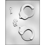 3D Handcuffs Chocolate Mold 90-13450 police bachelor bachelorette police