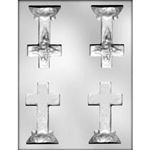 3D Small Cross with Base Chocolate Mold 90-7303 confirmation Easter baptism