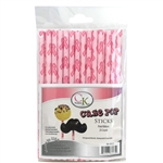 "Pink Hearts 6"" Cake Pop Sticks - 25 Count"