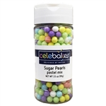 Pastel Sugar Pearls 6.5mm 3.5 Ounce Bottle Easter child birthday rainbow