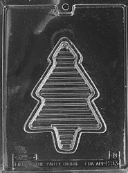 Christmas Tree Pour Box Chocolate Mold - Bottom - LPC093B