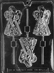 Large Angel Lolly Chocolate Mold - LPC158