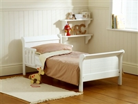 Saplings White Junior Sleigh Bed