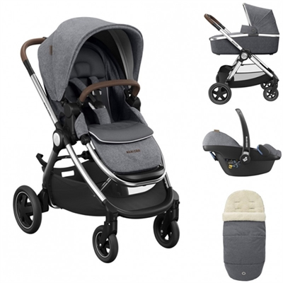 Maxi Cosi Adorra Luxe Travel System Bundle Grey Twillic now available at All4Baby with free delivery nationwide.